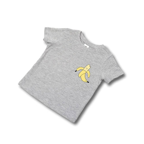 BAM!BABY Peeled Banana Tee - grey/white