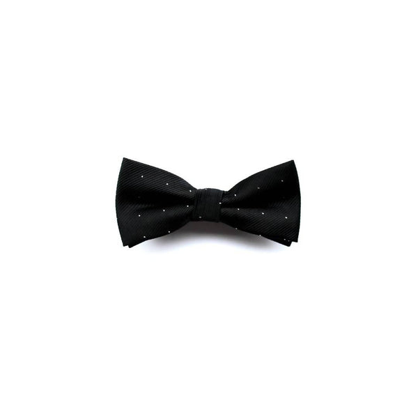 Black dot bow tie