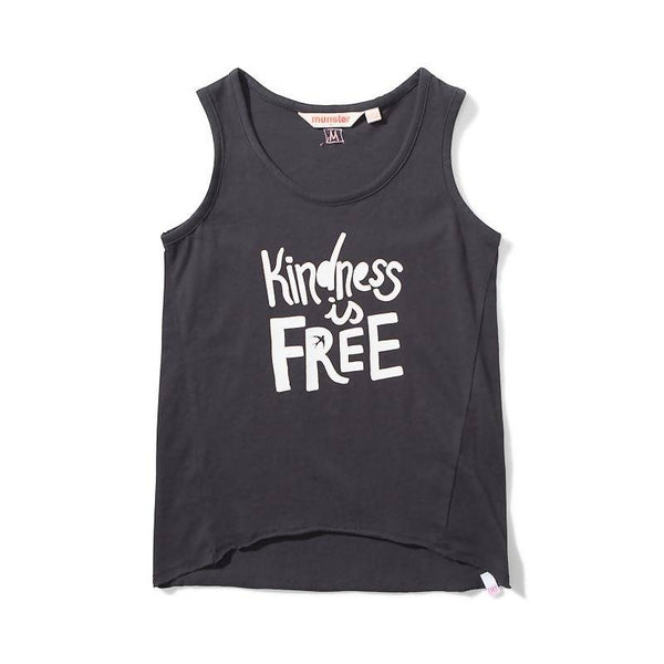 Missie Munster Kindness Jersey Singlet - Soft Black