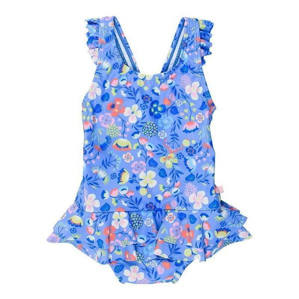 Bebe Emma Floral Swim Suit with Frill