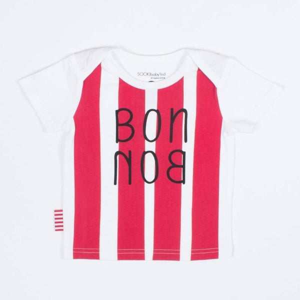 SOOKIBaby Bon Bon Tee in White And Red