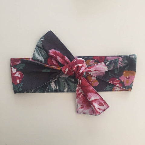 'Dusk Red Floral' Head Wrap