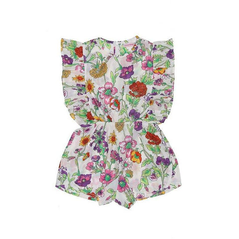 Coco and Ginger Delphine Playsuit Sand Fiore