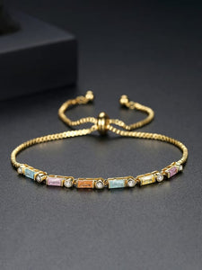 Multicolor Gold Plated Bracelet. Tataita. RD$ 1000.