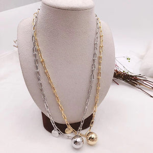 Gold Plated Ball Necklace. Tataita. RD$ 1062.