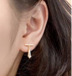Drop Silver Gold Plated Earrings. Tataita. RD$ 1000.