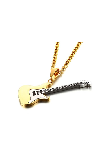 The Gold Guitar Necklace