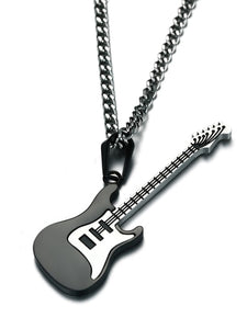 The Guitar Necklace in Black