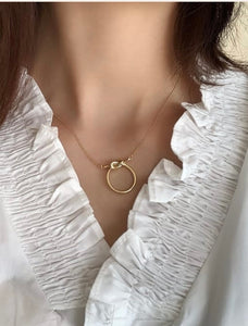 The Knot Golden Tone Necklace
