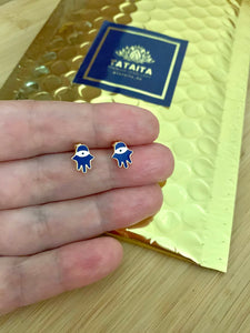 Hand of God Stud Earrings