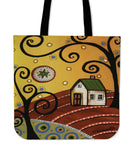 Original Oil Painting Tote Bags