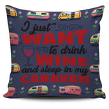 Wine & Caravan Pillow Cover