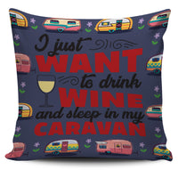 White Wine & Caravan Pillow Covers