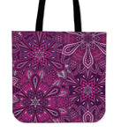 Purple Flower Mandala Tote
