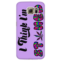 I Think I'm Stoned Phone Case - Purple