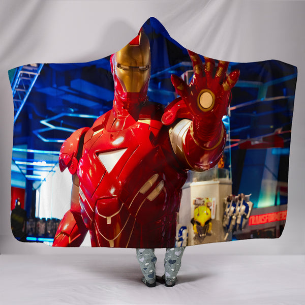 Iron Man Hooded Blanket