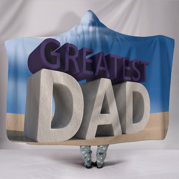 Greatest Dad Hooded Blanket