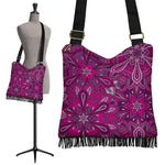 Purple Flower Mandala Boho Bag