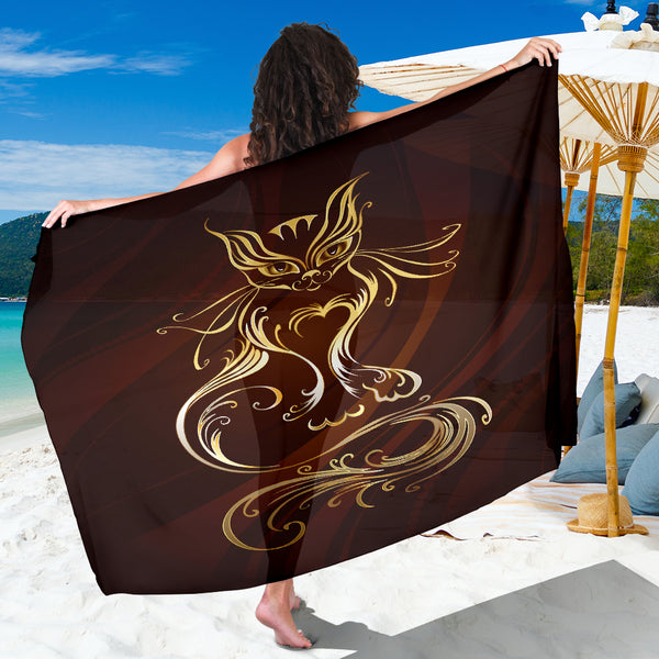 Golden Cat Sarong