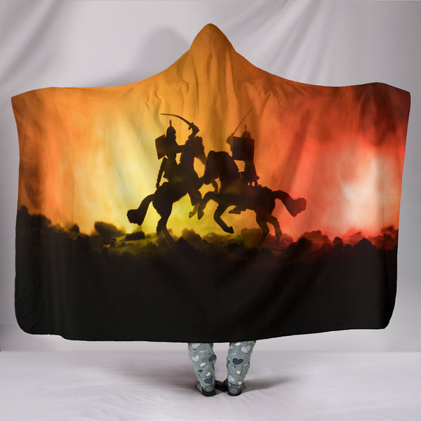 Knights Battle Hooded Blanket