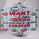Scotch & Caravan Hooded Blanket - Blue