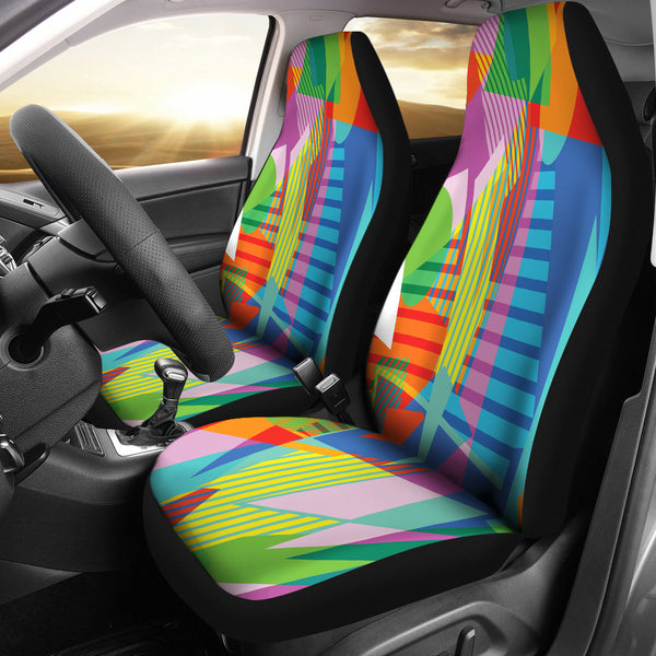 Retro Vintage 80's & 90's Fashion 2 Car Seat Covers