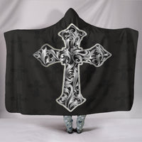 Silver Cross Hooded Blanket