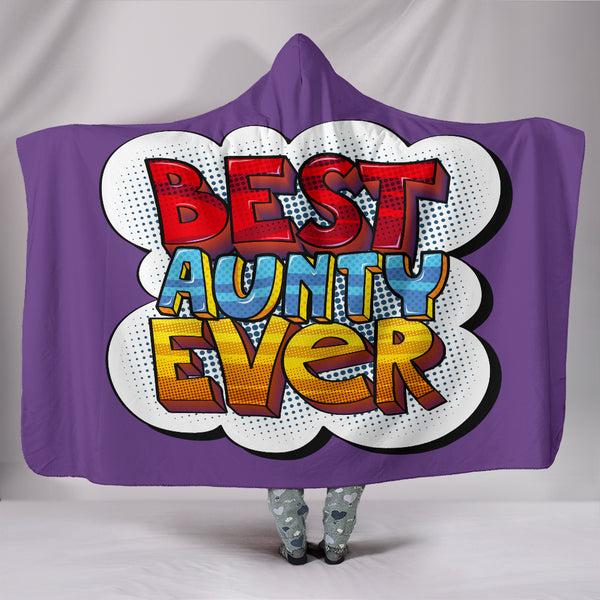 Best Aunty Ever Hooded Blanket - Purple
