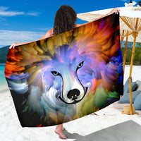Abstract Dog Sarong