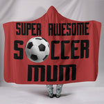 Soccer Mum Hooded Blanket - Black On Red
