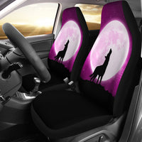 Wolf Howling At Moon Car Seat Covers