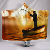 Love To Fish Hooded Blanket