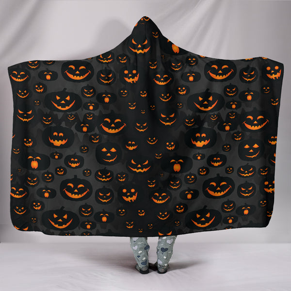 Scary Pumpkins Hooded Blanket