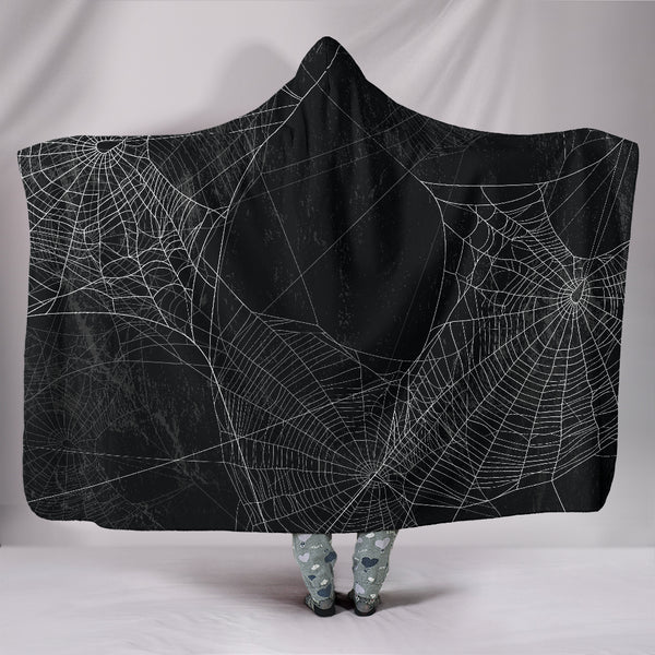 Spiderweb Hooded Blanket