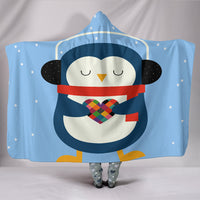 Take My Heart Blue Hooded Blanket