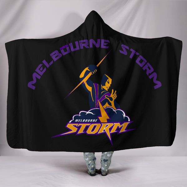 Melbourne Storm Hooded Blanket
