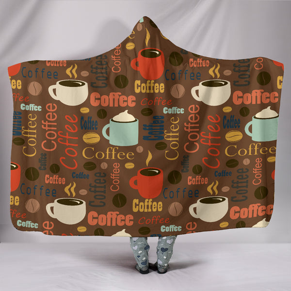Coffee Hooded Blanket