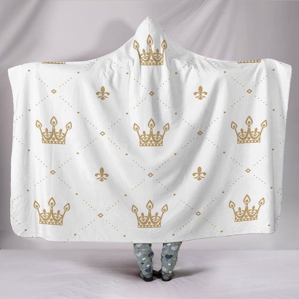 Golden Crown Hooded Blanket
