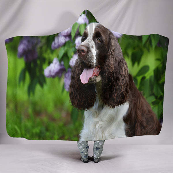Springer Spaniel Hooded Blanket