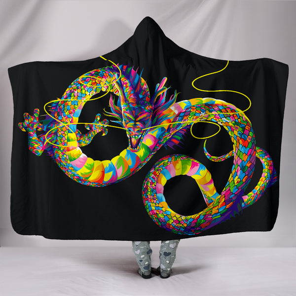 Chinese Dragon Hooded Blanket