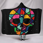 Colour Skull Hooded Blanket