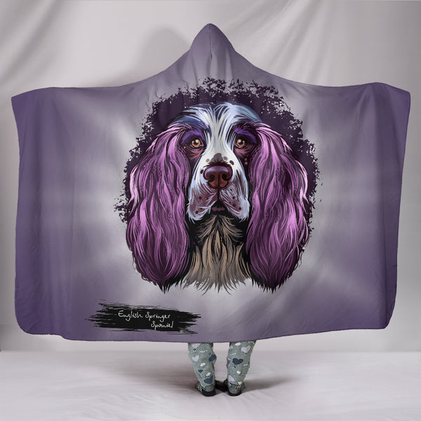 English Springer Spaniel Hooded Blanket