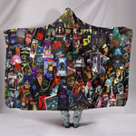 Horror Movie Collage Hooded Blanket