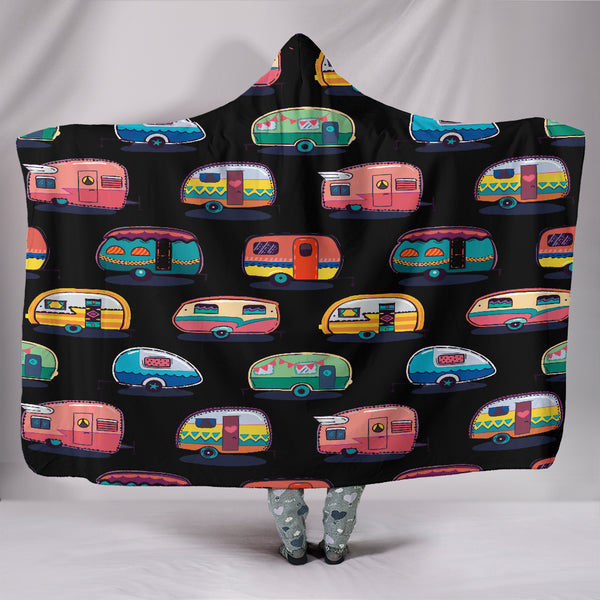 Caravan Hooded Blanket - Black