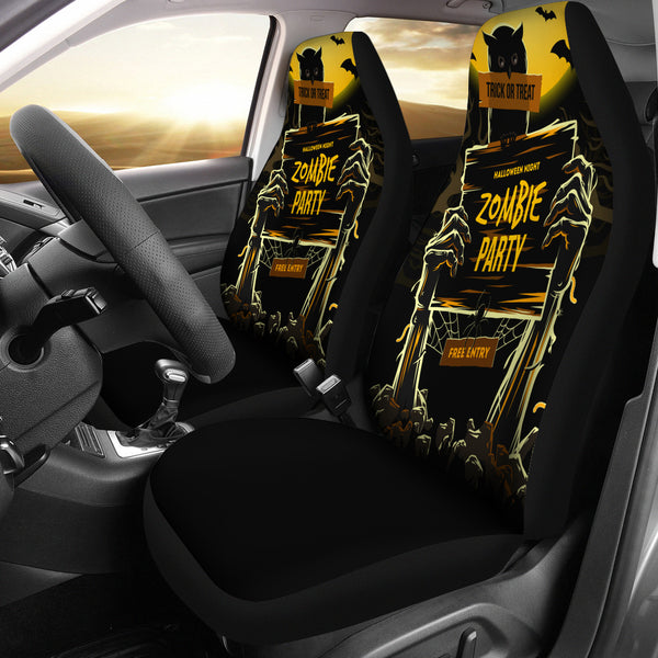 Zombie Party Halloween Car Seat Covers