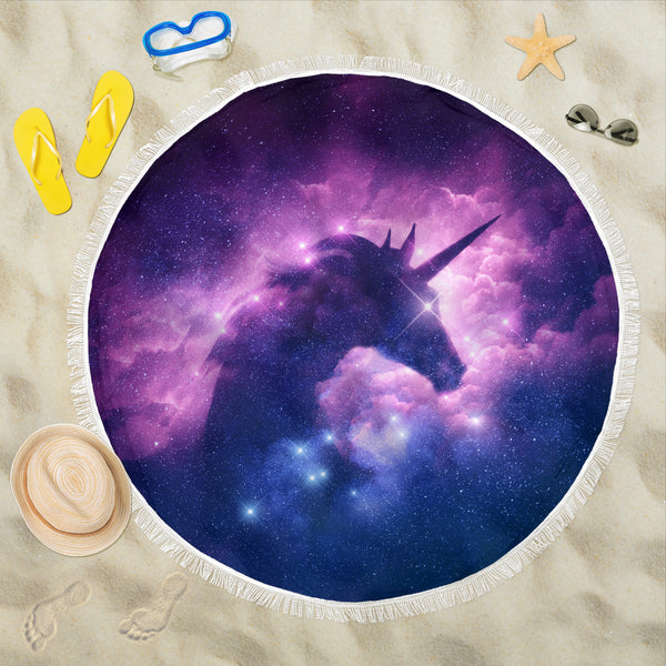 Mystical Unicorn Beach Blanket