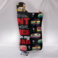 Dance & Caravan Hooded Blanket - Black