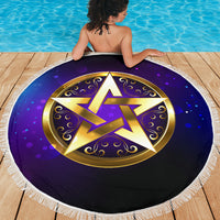Magic Pentagram Beach Blanket
