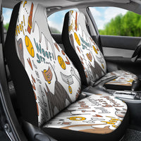 I Love My Bull Terrier Car Seat Covers