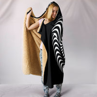 Psychedelic Om Hooded Blanket - Black